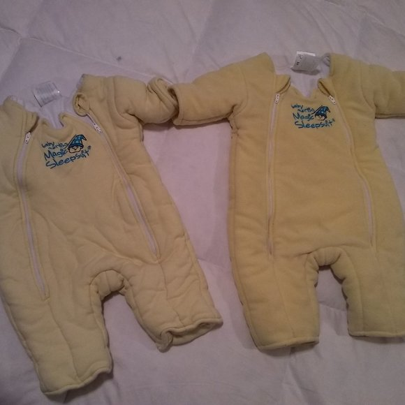 Lot of 2 Baby Merlin's Magic Sleepsuits 6-9 Mos L